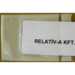 C7 visszazárható átlátszó okmánytasak (csomagkísérő), 2000db/doboz - újrazárható, többször kinyitható
