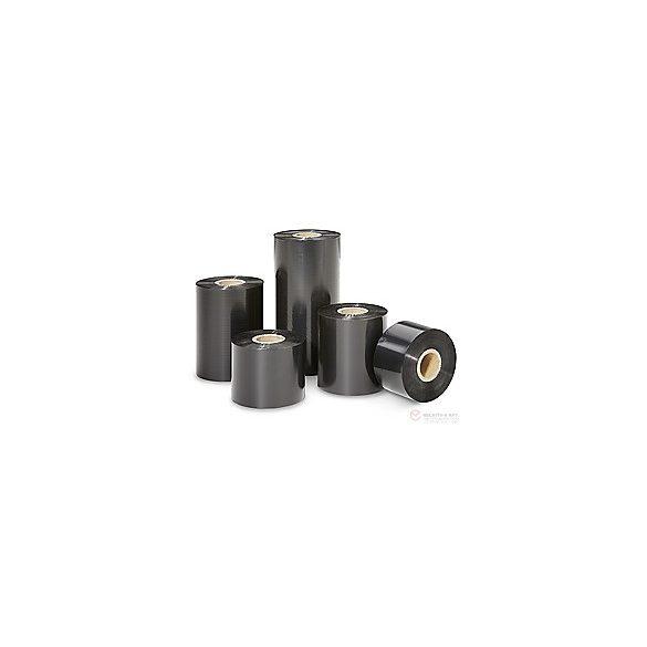 Festékszalag - PR Wax - 110mm * 450m OUT Fekete pl. Zebra nyomtatóhoz