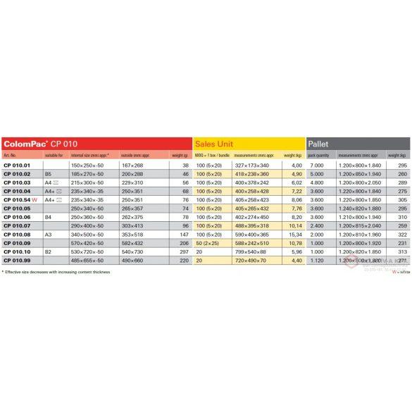 340x500x-50 - ColomPac CP 010.08 csomagküldő karton boríték