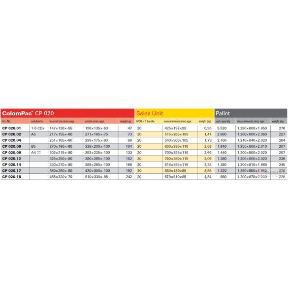 325x250x-80 - ColomPac CP 020.12 csomagküldő doboz - A4+