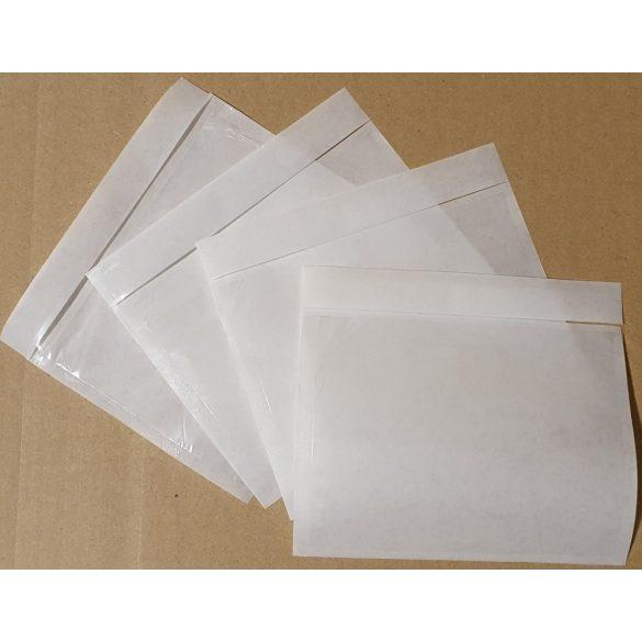 A7 átlátszó okmánytasak, hosszú oldalon nyíló (csomagkísérő), 1.000db/doboz