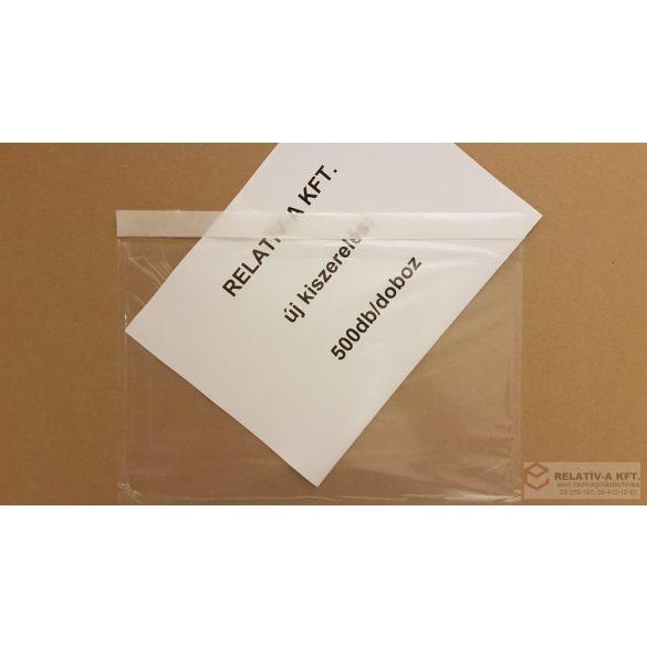 C5 átlátszó okmánytasak 500db/doboz csomagkísérő tasak