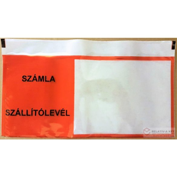 LD Számla Szállítólevél 240 110 JOBB ablakos piros nyomtatott okmánytasak (csomagkísérő), 1000db/doboz