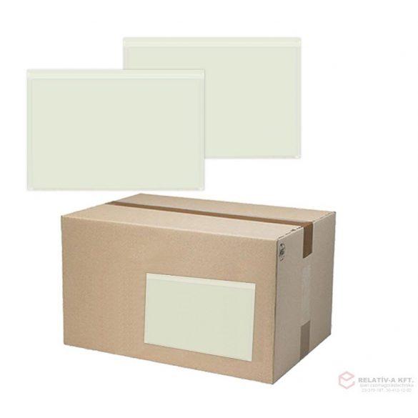 C5 visszazárható átlátszó okmánytasak (csomagkísérő), 1000db/doboz - újrazárható, többször kinyitható