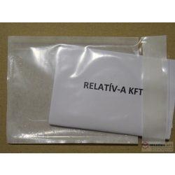 C7 átlátszó okmánytasak (csomagkísérő), 2000db/doboz