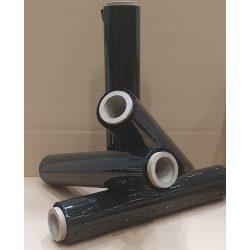 Fekete színű kézi stretchfólia, raklap csomagoló fólia
